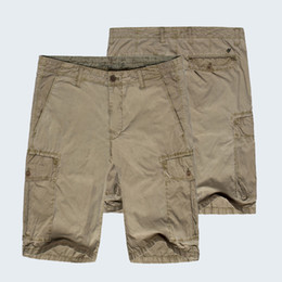 Wholesale Mens Summer Shorts Rugged Cargo Relaxed Fit Casual Style Multi Pockets Classic Wash Fabric Pants ZK03