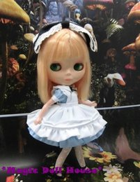 Wholesale 2016 NEW Neoblythe Doll Dress Blue Alice in wonderland dress set for blyth doll outfits for Retail