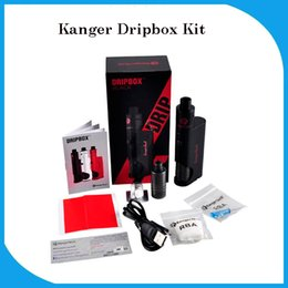 Wholesale Kanger Dripbox Starter Kit ml Max W Output Drive ohm Coil with All Necessary Mod Protection