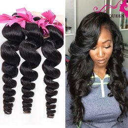 Wholesale 7A Best Unprocessed Indian Loose Wave Virgin Hair Weave Indian Loose Curly Virgin Human Hair Extensions Queen Mocha Hair Products