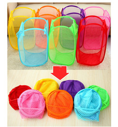 Wholesale New Mesh Fabric Foldable dirty baskets Debris storage basket Laundry Bags Bin Hamper Storage for Home Housekeeping Use