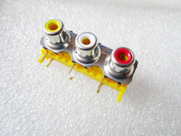 Wholesale AV socket Cinch audio input socket RCA audio jack stand feet copper