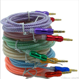 1.5M 3.5mm Jack Male To Male Stereo Fabric Braided Aux Audio Cable For iPhone 5 6 for samsung All Mobile Phone