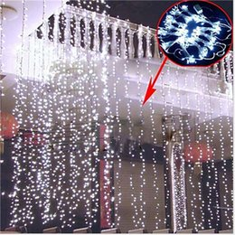2016 New Christmas Kitchen Curtains Light 10*3M 512 LED Ultra Bright LED String For Holiday Decoration White Warm White With Adapter