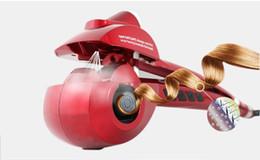 Wholesale Hair Straighteners Promotie Elektrische krultang Automatische Professionele Haar Curling LCD Curler Irons Golf Machine Krul Keramische