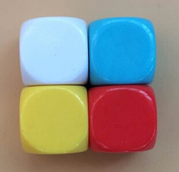 Multi Colored Engraving Blank Dice 28mm DIY Dices Games Funny Cube Family Game Accessories Toy Good Price High Quality #B21