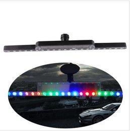 Wholesale New CM LED External Lights Car Solar Flash Lights Led Car Knight Rider Warning Light Flash Anti rear end Accident Taillight