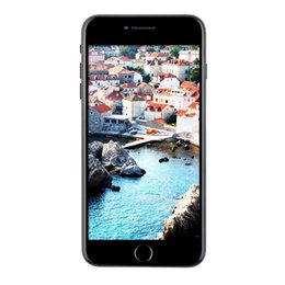 Promotion caméra 32gb Cheap Matt Noir Goophone de 5,5 pouces i7 Plus V4 3G WCDMA Quad Core MTK6580 1.3GHz 1Go 8 Go + 32 Go Android 6.0 13.0MP Appareil photo Nano-Sim Smart Phone