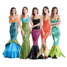 zeemeerminstaart kinWrapped chest sexy sequined mermaid Halloween costume cosplay animation performance clothing trade in Europe and America
