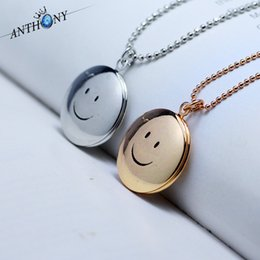 Statement necklaces Smile phase box Floating Locket necklaces can be placed within the frame photo necklaces