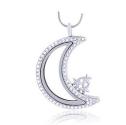 10PCS Silver Moon magnetic glass living memory floating charm locket Zinc Alloy floating locket pendant necklace