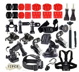 Wholesale Camera Accessories set for GoPro Hero Multiple accessories combination SJ7000 small ant Sports Camera Accessories