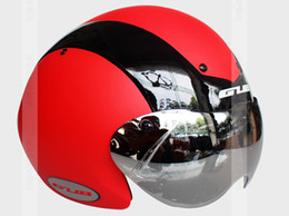 Wholesale Professional TT Bicycle Helmet Time Trial Bike Cycling Helmets Goggle High Quality Ultra Light