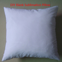Wholesale 2016 hot white DIY Blank Sublimation pillow heat thermal transfer pillow square back cushion peachskin pillow