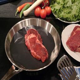 Wholesale Round Non stick Mat Pan Fry Liner Sheet Cooking Wok Sheet Pad Kitchen BBQ Baking Mat