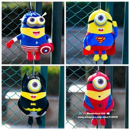 Wholesale Despic Me Mini ons Avenge plush toys sizes styls Cap America Super Bat Iron Spider man Thor kids gifts