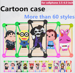 Universal Tablet 3D Cartoon silicone bumper case for ipad Tablets cellphones free shipping