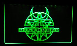 LS159-r Disturbed Rock n Roll Bar Pub Neon Light Sign Decor Free Shipping Dropshipping Wholesale 8 colors to choose