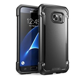 Wholesale SUPCASE For Galaxy S7 Edge Beetle Hybrid Scratch Resistant Coating TPU PC Hard Back Bumper Case For iPhone S Plus