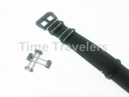 Ver negro núcleo suunto en venta-Para los adaptadores de Suunto Core venda de reloj de la OTAN 24MM Negro correa de cuero auténtico de la correa de la hebilla + + + PVD agarraderas - 115