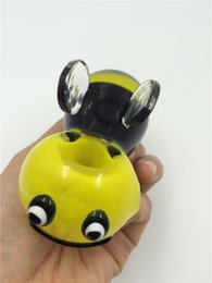 Wholesale 2016 Manufacturer smoking glass pipes new design picture hand pipes glass smoking pipe hand pipes yellow bee glass pipes bubblers inches
