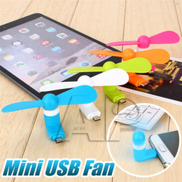 Wholesale Mini USB Fan Pin Flexible Portable Super Mute Cooler Cooling For Android Samsung S4 S7 edge Phone Iphone S Plus With Package