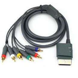 2017 câbles xbox av 1080P Composant HD AV Câble haute définition HDTV pour XBOX 360 Noir câbles xbox av à vendre