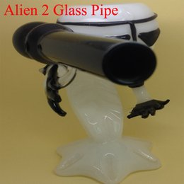 Wholesale Alien Glass pipe Black glass smoking pipe glass bubbler glass bong oil rig water pipe Alien pipe tobacco pipe