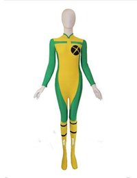 Yellow X-Men Zentai spandex leotard dress performance props Halloween tights