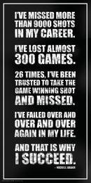 Wholesale Michael Jordan Success Inspirational Motivational Sports Basketball Icon Quote Poster Print24x48 inch Art Silk Poster home Decor