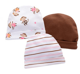 Hats Baby Girls Boy New Gift for Winter Spring Caps Kid Hat 100%cotton Monther's Day 0-6m Infant Solid Color 3pcs lot Warm for Bebe