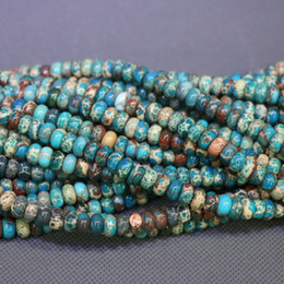 Jasper Natural Stone 5x8mm Aqua Gemstone Emperor Imperial Jasper Beads Round Smooth Beads Wholesale Price Women Necklace Making Jewelry