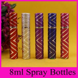 Wholesale 2016 Secant ml perfume dispensing tube aluminum portable small perfume bottles Refillable Travel Size Perfume Bottle Spray Bottles