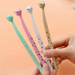 Wholesale Sell Well Cartoon Cat Black Ink Pen Ball Point Pen Gel Pens School Office Supplies Fashion Cute Gift Decorations Pen Papelaria