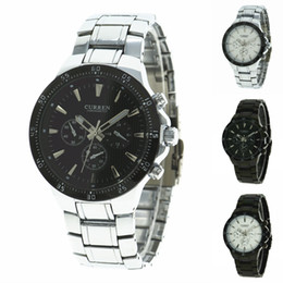 Wholesale Curren Stainless Steel Watches Men s Quartz Watch Casual Watch Men Steel Wristwatch by DHL
