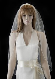 New Real Image Simple Romantic Line Edge With Comb 1T Lvory White Wedding Veil Fingertip Bridal Ve