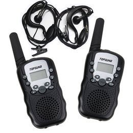 2PCS Kid Walkie Talkies T388 Wireless Interphone PMR 8 Channels or FRS GMRS 22CH 2 Way Radios with Flashlight Earphones