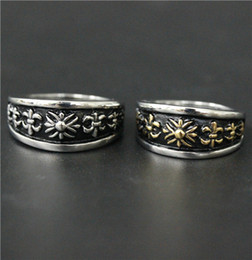 Size 7-13 Mens Womens 316L Stainless Steel Jewelry Silver Golden Fleur De Lis ring Good Quality Special Band New Biker Ring