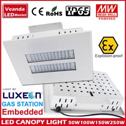 Wholesale Explosion proof Lumiled LED canopy light W W W W W high bay light recessed GAS Station light warehouse lamp Aluminum radiator