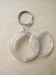 Wholesale 10PCS Blank Acrylic Round Circle Photo Keychain Insert Picture Personalized Keychains cm