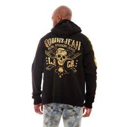 Wholesale new designer Brand Robbin Jeans hoodies sweatshirts Men Casual Sportswear Man Hoody Zipper Long sleeved Sweatshirt Men Slim Fit Men Hoodie
