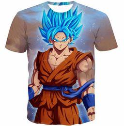 Wholesale-Dragon Ball Z Goku 3D t shirt Funny Anime Super Saiyan t shirts Women Men Harajuku tee shirts Casual tshirts tops Free shipping