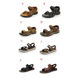 Wholesale Casual Rubber Slipper For Men - Men Sandals Slippers Genuine Leather Cowhide Sandals Outdoor Casual Men's Summer Shoes Leather Sandals for Man