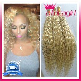 cheap 8A blonde Brazilian Deep Curly Virgin Hair Unprocessed Brazilian Deep Wave 4Bundles Brazilian Curly Hair Human Hair Extension freeship