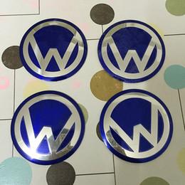 Wholesale 90MM Wheel Center Caps Sticker D Aluminum Decals LOGO Badges for Volkswagens Passat Golf