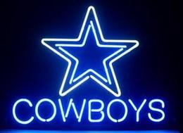 2017 signes de cow-boy COWBOYS enseigne au néon affichage bière bar vrai artisanat tubes en verre lumières suspendu mur 17 * 14