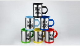 Wholesale Automatic Electric self stirring Coffee Cup Automatic Mixing coffee Tea cup stainless steel coffee Cup Drinking Cup Coffee mug