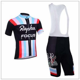 Wholesale Rapha Focus Summer Cycling Jersey Sets Short Cycling Suit Ropa Ciclismo Moisture Wicking Bicycle Racing Clothes Wears Padded Pants
