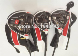Wholesale 3PCS M1 Wood Set M1 Golf Clubs Driver pc Fairway Woods Regular Stiff Flex Graphite Shaft With Head Cover