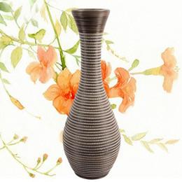 Wholesale European style restore ancient ways floor type Handmade rattan weave big vase
